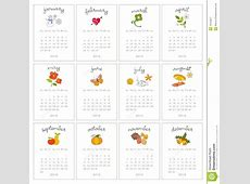 Decorative Monthly Calendars Royalty Free Stock