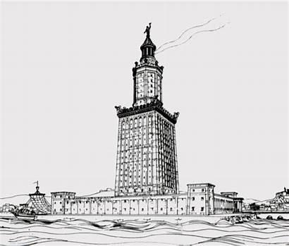 Lighthouse Alexandria Wikipedia Pharos Egypt Ancient Built