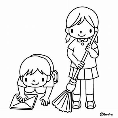 Cleaning Coloring Pages Para Ninos Colorear Limpiando