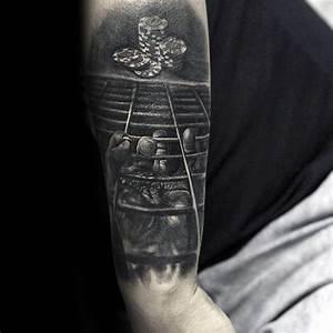 40 Poker Chip Tattoo Designs For Men