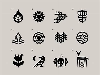 Nature Symbols Dribbble Iconography Natural Ethan Fender