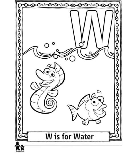 Kleurplaat Go Water by N 26 Coloring Pages Of Doras Alphabet
