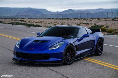 admiral blue chevrolet   corvette forgestar cfv wheels