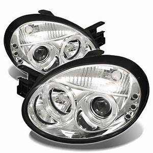 Dodge Neon 2003 2005 Clear Dual Halo Projector Headlights