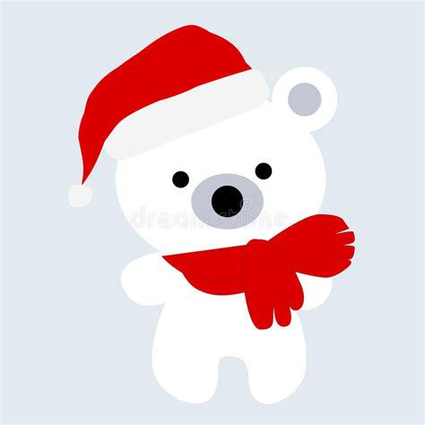 icon color baby christmas cute  white polar bear