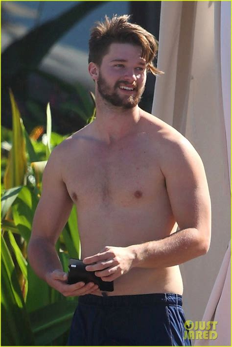 taron egerton swimsuit patrick schwarzenegger goes shirtless after untrue rumors