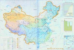 China Map with Rivers