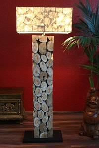 Stehlampe Holz Design : stehlampe design lampe stehleuchte leuchte massiv holz ~ Watch28wear.com Haus und Dekorationen
