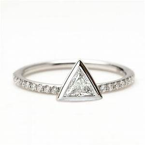 02 carat trillion diamond ring triangle diamond ring With triangle wedding ring