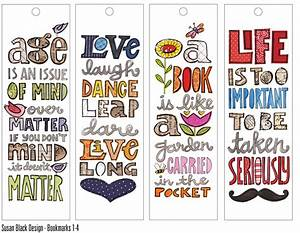 cute quote bookmarks susan25252bblack25252bbmarkajpg With design a bookmark template