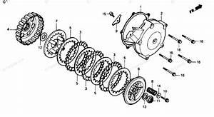 Honda Atv 1990 Oem Parts Diagram For Torque Clutch