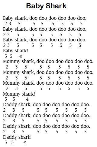 not pianika kun anta not lagu baby shark pianika lagu anak anak yang tengah viral dan populer