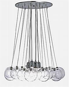 Luminaire Boule Verre : orchestra suspension 16 boules et 4 ampoules luminaire concept verre r f 09100118 ~ Teatrodelosmanantiales.com Idées de Décoration