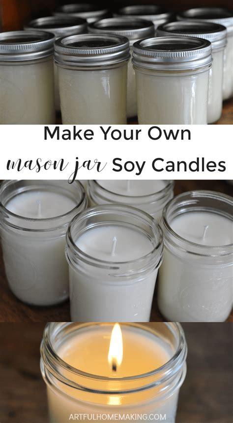 mason jar soy candles tutorial artful