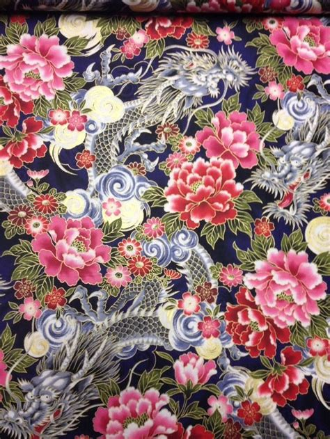 japanese flowers images cs250 dragons asian flowers tattoo japanese art cotton fabric quilt fabric