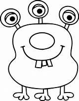 Coloring Alien Eye Tooth Monster Three Halloween Wecoloringpage Kudu Boys Templates Drawing Nice Drawings Martouf Cartoon Printable Fuzzy Sofia Monsters sketch template