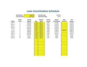 Microsoft Excel Amortization Schedule Template Loan Amortization Calculator Excel
