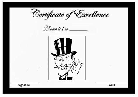 mustache themed award certificates themed award