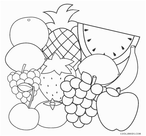 printable fruit coloring pages  kids coolbkids