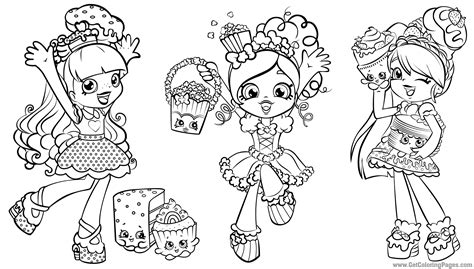 shopkins dolls coloring pages getcoloringpagescom