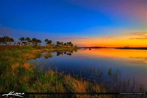 wellington environmental preserve sunset  wetlands