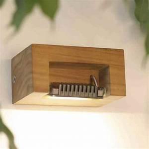 Holz ölen Außen : wand teakholzleuchte mit led au en wandlampe wandleuchte ~ Orissabook.com Haus und Dekorationen
