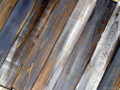 distressing wood how to make new boards look like old barn boards reality daydream