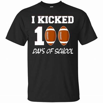 100th Days Pun Happy Shirts Football Boy