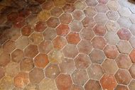 Terracotta Hexagonal Floor Tiles