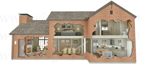 building cutaway renderings  graphics