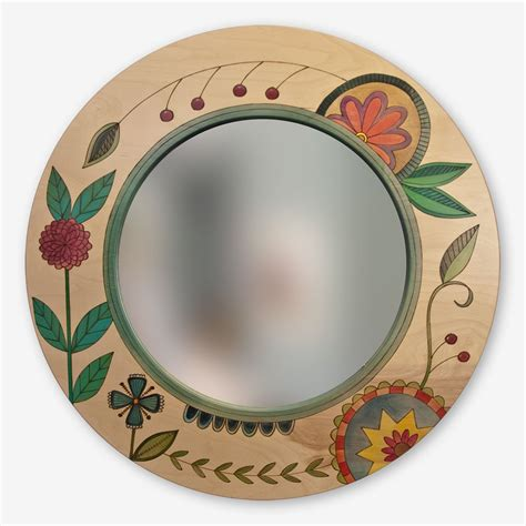 Although on the pictures they seem to be mirrors, in reality they are just reflexive surfaces (similar to the mirrors found in children's toys). Sticks | Mirror | Large round mirror, Round mirrors, Diy mirror wall decor