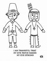 Coloring Pages Eye Patch Thanksgiving Happy Drawing Patches Wear Patching Eyes Power Getdrawings Read Thankful sketch template