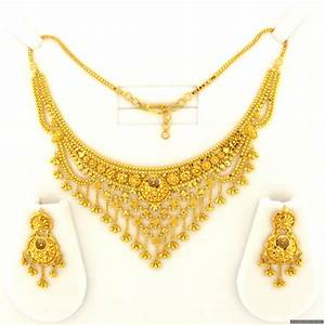 22ct Indian Gold Necklace Set - £1855.38 | Necklace Sets ...
