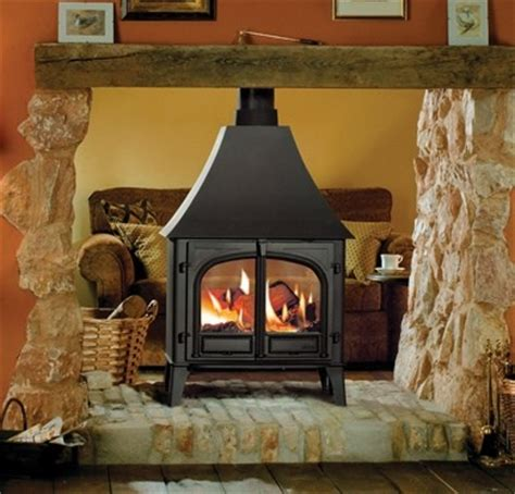 stovax stockton  double sided wood burning stove  canopy