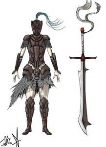 Female Knight Armor Concept Art