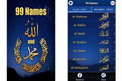 Names Muhammad Allah Pbuh App Smartphone Prophet