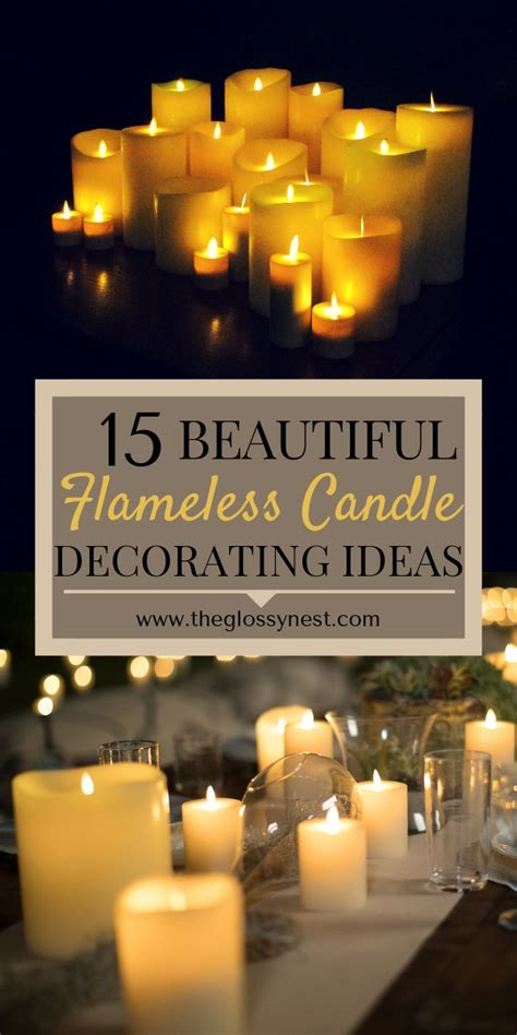 Decorating With Candles by 15 Beautiful Home Decorating Ideas With Flameless Candles