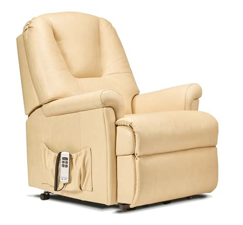 Small Reclining Chairs Uk by Milburn Small Leather Lift Rise Recliner Sherborne