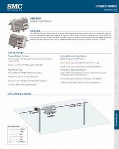Outdoor Cable Modem Smc8511 Manuals