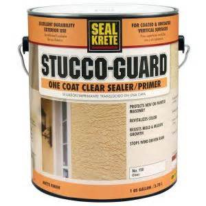 seal krete stucco guard 1 gal clear sealer and primer