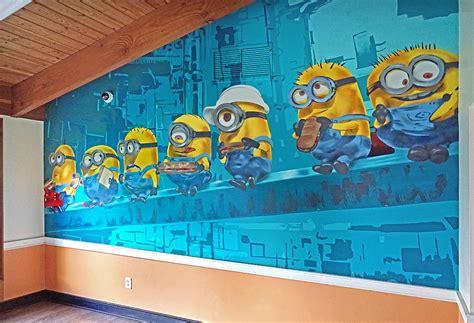 Abjad Grafiti Minion : Minions Mural For Julia Andrus Dyckman School
