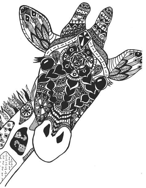 zentangle giraffe print  stephschaeferart  etsy art
