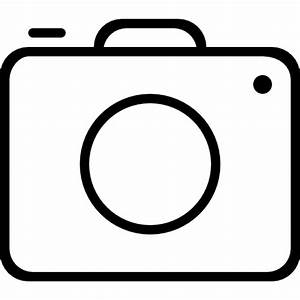 Photo camera outline - Free interface icons