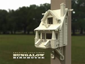 3D-Vorlage: Amerikanisches Bungalow Vogelhäuschen