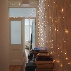 Indoor fairy lights interior love pinterest lights for Interior rope lighting ideas