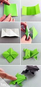 Basteln Mit Papier Anleitung : origami frosch falten aus papier geldschein basteln gut gefaltet origami anleitungen ~ Frokenaadalensverden.com Haus und Dekorationen