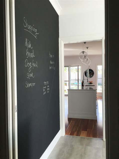 DIY: Chalkboard wall in the laundry   Katrina Chambers