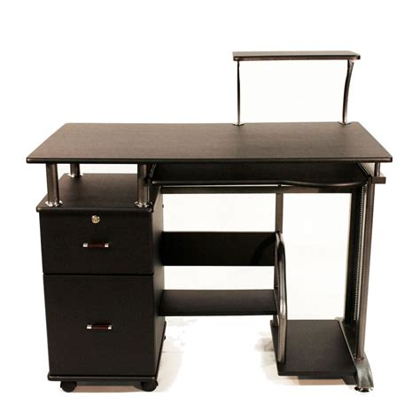 standing desk with storage wooden computer desk shelf drawer storage office