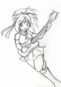 Anime Guitar Girl - picture by tazmaa | DrawingNow