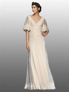 8 bridal gowns perfect for a wedding in the woods for Flutter sleeve wedding dress